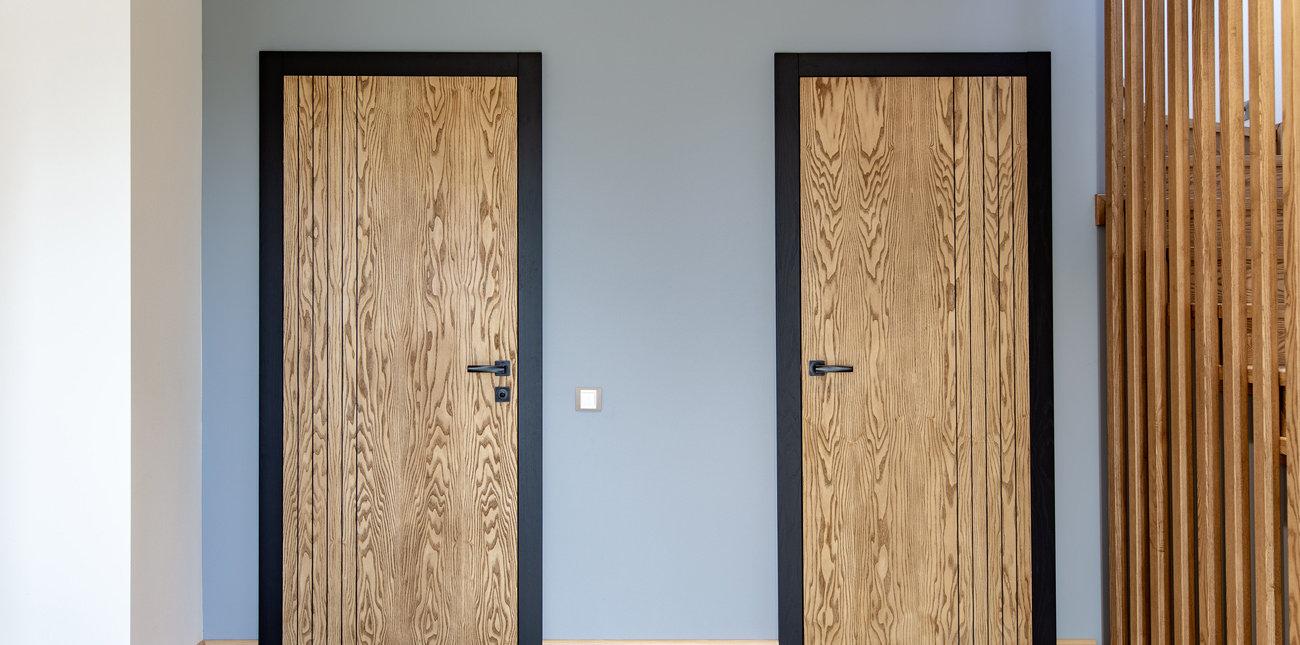 Двери, шпонированный натуральным ясенем под маслом